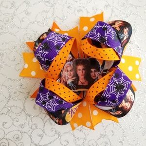 Hocus pocus stacked hair bow